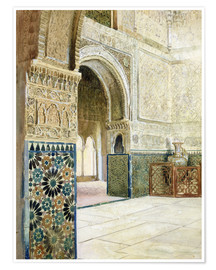 Premium poster  Interior of the Alhambra, Granada - French School