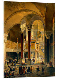 Acrylic glass  Haghia Sophia, plate 8: the Imperial Gallery and box, engraved by Louis Haghe published 1852 - Gaspard Fossati