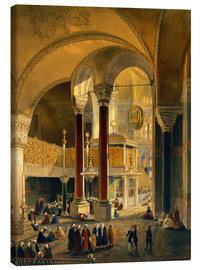 Canvas  Haghia Sophia, plate 8: the Imperial Gallery and box, engraved by Louis Haghe published 1852 - Gaspard Fossati