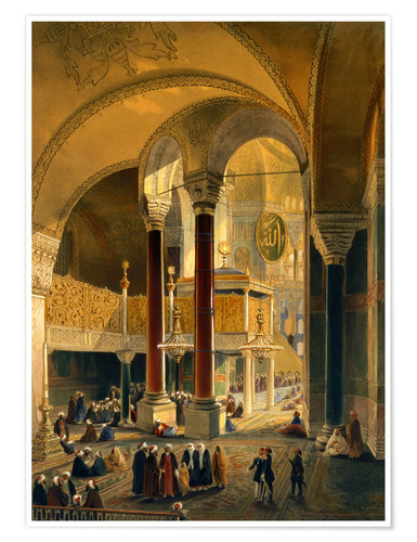 Poster Haghia Sophia, Imperial Gallery and Box