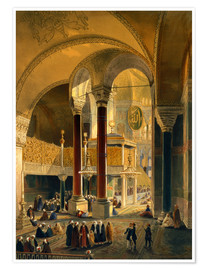 Premium poster Haghia Sophia, Imperial Gallery and Box