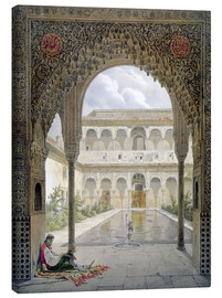 Canvas print  The courtyard of Alberca in the Alhambra, Granada, 1853 - Léon Auguste Asselineau