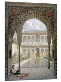 Forex  The Court of the Alberca in the Alhambra, Granada, 1853 - Léon Auguste Asselineau