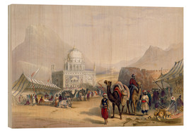 Wood print  Temple of 'Ahmed Shauh', King of Afghanistan, Kandahar - James Rattray