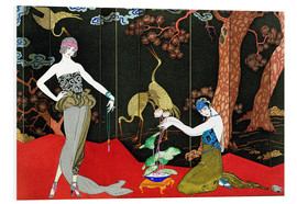Foam board print  Fashion for Lacquer, engraved by Henri Reidel, 1920 - Georges Barbier