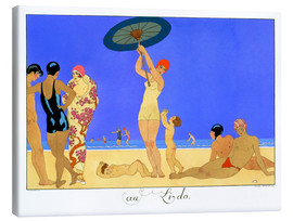 Canvas print  At the Lido, engraved by Henri Reidel, 1920 - Georges Barbier