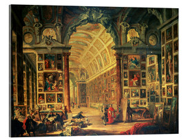 Acrylic print  Interior of the Colonna Gallery - Giovanni Paolo Pannini