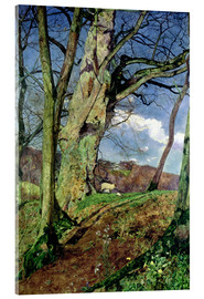 Acrylic print  In Early Spring: A Study in March - John William Inchbold