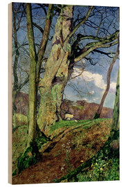 Wood print  In Early Spring: A Study in March - John William Inchbold