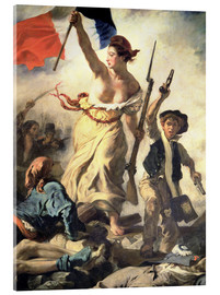 Acrylic glass  Liberty Leading the People, detail - Eugene Delacroix