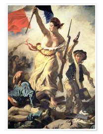 Premium poster  Liberty Leading the People, detail - Eugene Delacroix