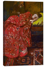 Canvas print  The Red Kimono - Georg-Hendrik Breitner