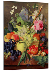 Alu-Dibond  A Basket of Fruit, 1744 - Jan van Huysum