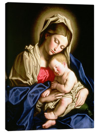 Canvas print  Madonna and child - Il Sassoferrato
