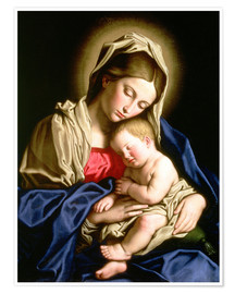 Premium poster  Madonna and child - Il Sassoferrato