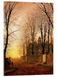 Acrylic print  In the Golden Olden Time, c.1870 - John Atkinson Grimshaw