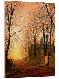 Wood print  In the Golden Olden Time, c.1870 - John Atkinson Grimshaw