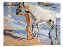 Acrylic glass  Washing the Horse - Joaquin Sorolla y Bastida