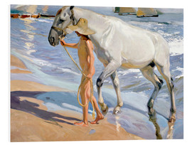 Foam board print  Washing the Horse - Joaquin Sorolla y Bastida