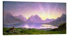 Canvas print  The Dawn, Loch Torridon - William Turner of Oxford