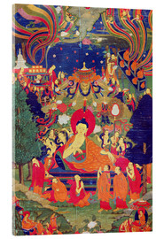 Acrylic print  Thangka of Parinirvana of the Buddha - Tibetan School