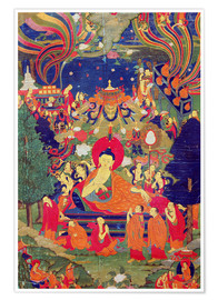 Tibetan School - Thangka of Parinirvana of the Buddha