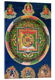 Acrylic print  Thangka of the mandala of Chakrasamvara - Tibetan School