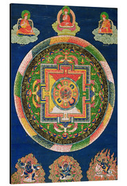 Aluminium print  Thangka of the mandala of Chakrasamvara - Tibetan School