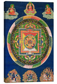 Canvas print  Thangka of the mandala of Chakrasamvara - Tibetan School