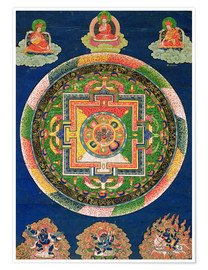 Premium poster  Thangka of the mandala of Chakrasamvara - Tibetan School