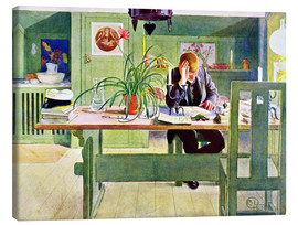 Canvas  The Study Room - Carl Larsson