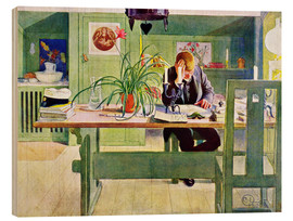 Wood  The Study Room - Carl Larsson
