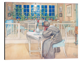 Aluminium print  The Evening Before the Journey to England  - Carl Larsson