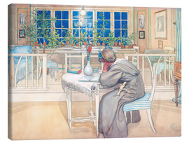 Canvas print  The Evening Before the Journey to England - Carl Larsson