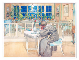 Premium poster  The Evening Before the Journey to England - Carl Larsson
