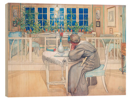 Wood print  The Evening Before the Journey to England - Carl Larsson