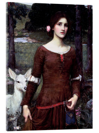 Acrylic print  Lady Clare - John William Waterhouse