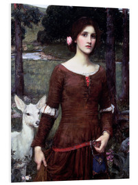 Foam board print  Lady Clare - John William Waterhouse