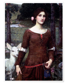 Premium poster  Lady Clare - John William Waterhouse