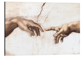 Aluminium print  The Creation of Adam (detail of hands) - Michelangelo