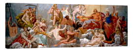 Canvas print  The Gods on Olympus, ceiling painting - Antonio Maria Viani