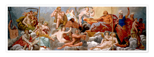 Premium poster The Gods on Olympus, ceiling painting