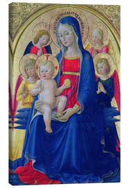 Canvas  Madonna and Child with Angels, c.1467 - Bartolomeo Caporali