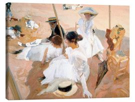 Canvas  Under the Parasol, Zarauz - Joaquin Sorolla y Bastida