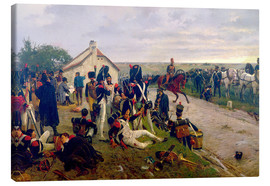 Canvas print  On the morning of the battle of Waterloo - Ernest Crofts