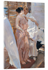 Acrylic print  After the bath - Joaquin Sorolla y Bastida