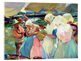 Acrylic glass  Fisherwomen on the Beach - Joaquin Sorolla y Bastida