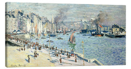 Canvas  view of the old outer harbor at le havre - Claude Monet