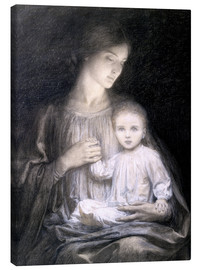 Canvas  Mother and Child, c.1920 - Sir Frank Dicksee