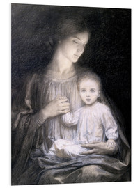 Foam board print  Mother and Child, c.1920 - Sir Frank Dicksee